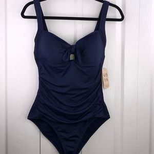 NWT Tommy Bahama Pearl Solids 1 Piece Swimsuit